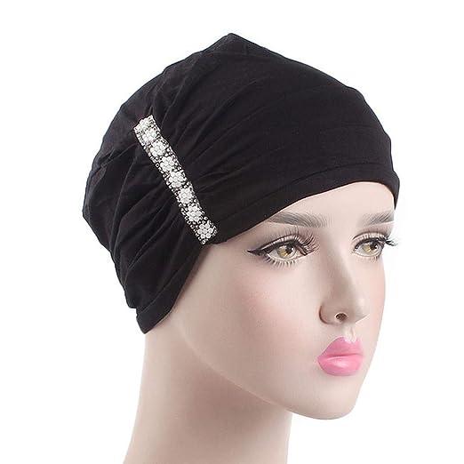 Hats Women Binmer Elastic Hijab Cancer Hat Chemo Turban Wrap Cap Hair Loss Head Scarf Hat