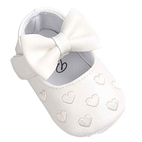 Baby Girl Shoes Elegante bebé niña | Cómodo Bowknot Loving Soft Zapatos cómodos Antideslizantes 12
