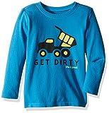 Life is good longsleeve Toddler Get Dirty Truck Tee, Denim Blue, 2T