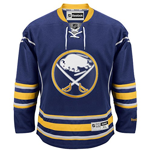 NHL Buffalo Sabres Premier Jersey, Navy, Medium (Sabres Reebok Buffalo Mesh)