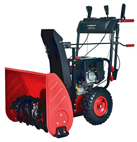 PowerSmart PSS2240C 24 in. 212cc 2-Stage Electric Start Gas Snow Blower (with Free Mug) (Snow Blower Gas Powered)
