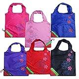 Beautiful Strawberry Eco-Friendly Nylon-Folding Shopping Bag - Set of 3 Assorted Bags