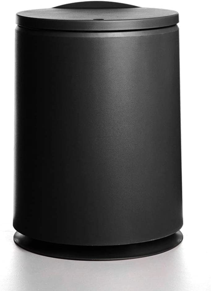 ZZFF Round Waste Bin Plastic Trash Can with Lid,Dual Compartment Garbage Can Kitchen Dustbin,Wastebasket for Bathroom Bedroom Livingroom Office B 10l