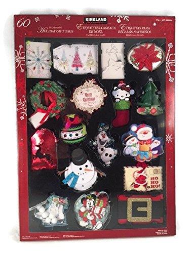 Holiday Gift Tags Christmas Handmade Hand Made Labels Set Festive (Handbag Tag)
