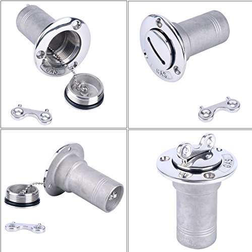 Deck Fill Key (Amarine-made 1.5 INCH Boat Deck gas Boat Deck Fill / Filler With Key Cap (38MM))