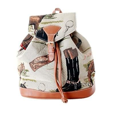 Signare - Mochila (tela, tamaño pequeño), diseño de caballos