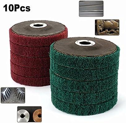 """10Pcs 4/"""" 100MM Nylon Fiber Flap Polishing Wheel Abrasive Buffing Disc Pad 120#"""