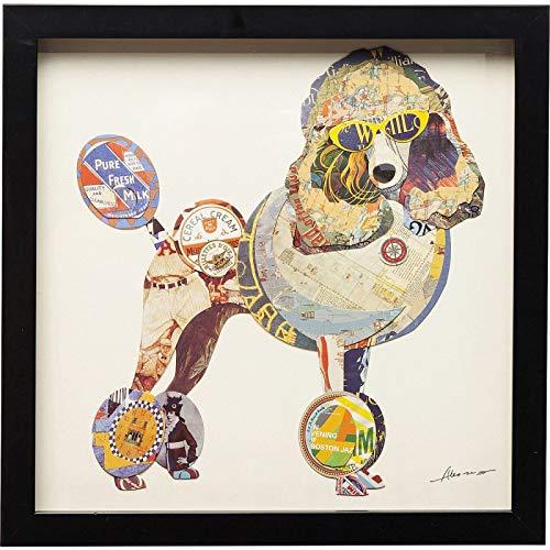Frame Poodle (KARE Picture Frame Art Poodle 41x41cm, Multi-Colour, 3.8 x 41 x 41 cm)