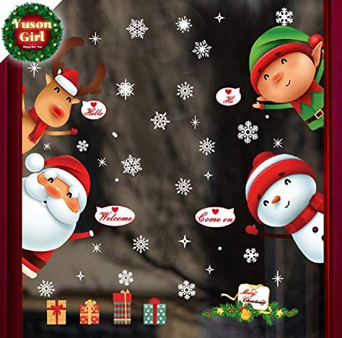 Autocollant-De-Nol-DcorationYuson-Girl-en-Verre-Fentre-Autocollant-PVC-Autocollant-Statique-Wall-Sticker-Fentre-Fleur-Santa-Claus-Snowflake-Post