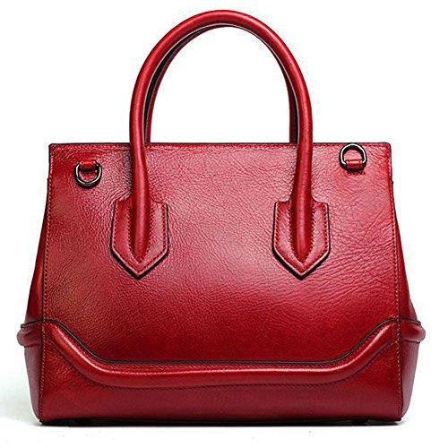 à main sac couche Leathario la femmes sac pour Rouge première à sacoche véritable épaule portable Besace cuir peint Grand main sac la bandoulière en porte femmes sac pour 6YxZgq6