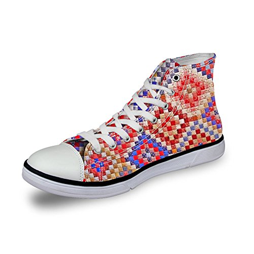 FOR U DESIGNS Breathable Women Canvas Shoes 3D Pattern Trainer Casual Fashion Sneakers Floral 11 68gSHcq1
