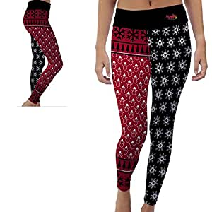 Illinois State Redbirds Womens Yoga Pants Christmas Party Design (XS)