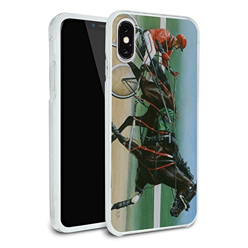 Harness Racing Horse Sulky Trotter Protective Slim Fit Hybrid Rubber Bumper Case Fits Apple iPhone X -  Graphics and More, IPHONEX.BUMPER.QQJQLMG00.Z001443_8