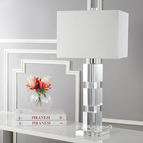 - Safavieh Lighting Collection Ice Palace Crystal Cube 28-inch Table Lamp