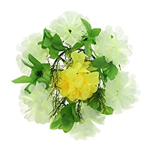 Fityle Simulation Silk Chrysanthemum Funeral Memorial Cemetery Tombstone Flower Wreath 60