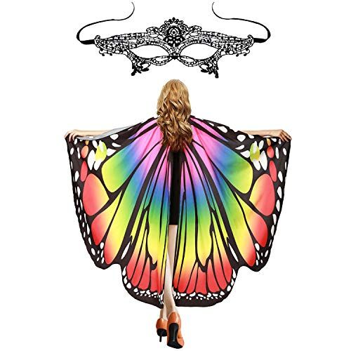 Soft Butterfly Wings Costumes - Halloween Soft Fabric Butterfly Wings Shawl