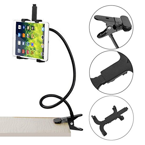 Genuine store Premium Tablet Holder, 360 Rotating Desktop Stand Lazy Bed Tablet Mount for iPad Air Samsung - Flexible Gooseneck Tablet Holder, Clamp Mount Stand