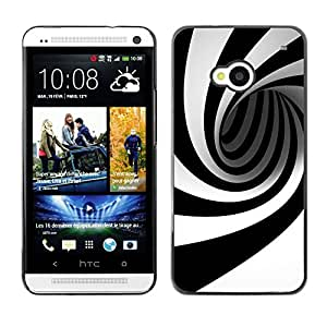 MOBMART Carcasa Funda Case Cover Armor Shell PARA HTC One M7 - Black And White Tunnel