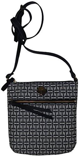Hilfiger Logo Xbody Tommy Women's Girl's Crossbody Navy Handbag White aOd8xgd