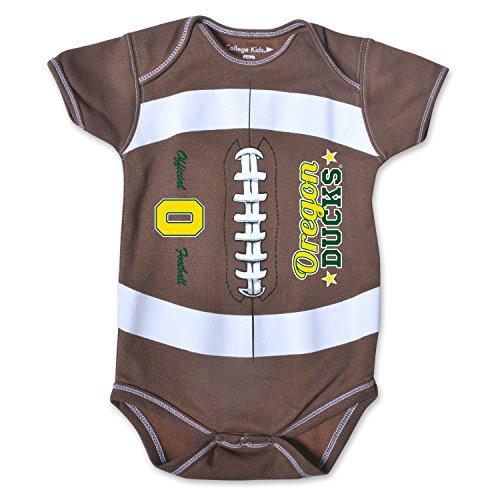 NCAA Oregon Ducks Kids MVP Football Bodysuit, 0-3 Months, Brown
