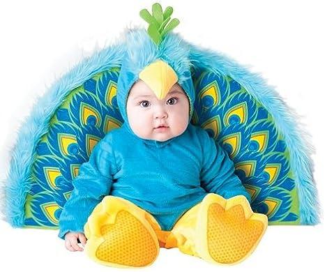 Costume da Pavone vanitoso per Bebè Travestimento Carnevale Halloween  Cosplay Tuta con Coda e Cappuccio Costume a36fc0ddead