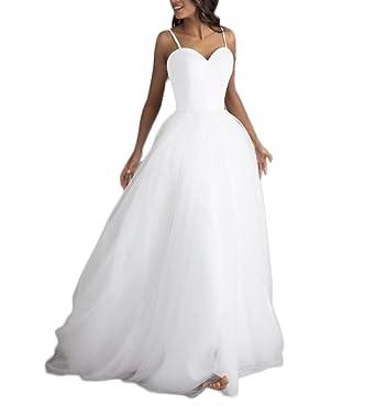 Fishlove Sexy Backless Vestidos De Novia Long Alluring Tulle Bridal Gowns For Bride W31