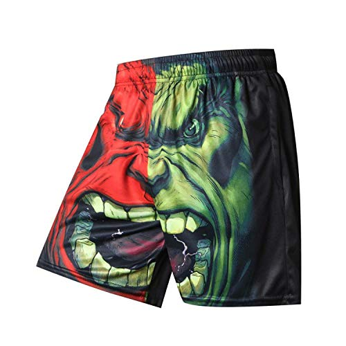 winkstores Compression Shorts Superman Printed Short Pants Loose Summer Beach Casual Breathable Male Shorts,XL]()