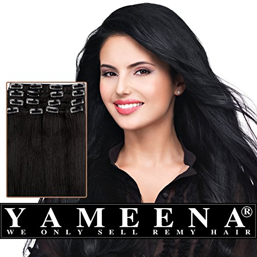 Yameena100-Remy-Human-Hair-Extension-Clip-in-Extensions-9-Pieces-16-22-8-Colors-120-125g