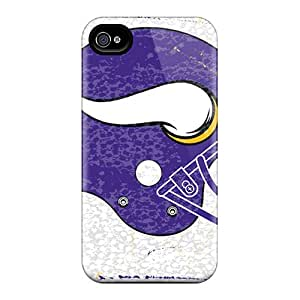 LavernaCooney Apple Iphone 4/4s Perfect Hard Cell-phone Cases Custom Attractive Minnesota Vikings Pattern [Gzk2612MVbI]