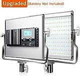 FOSITAN Bi-Color LED Video Light 3960 Lux CRI 96+ 200 SMD LED Light for Studio Photography Shooting (U Bracket, LCD Display - Single Light)