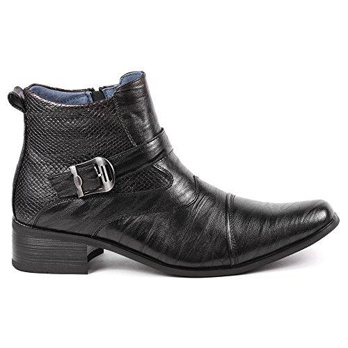 Image of Metrocharm MET525-9 Men's Buckle Strap Western Cowboy Formal Dress Casual Fashion Boots