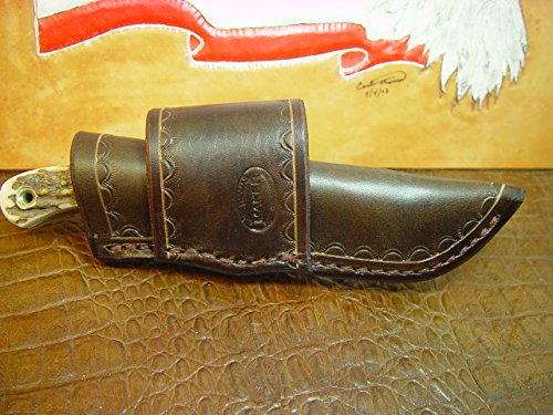Number Puma - Custom leather cross draw sheath for the puma catamount knife number 6814 000.