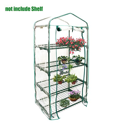 Portable Mini Plant Greenhouse Cover PVC Warm Green Garden Hot House Just Cover, Without Iron Stand