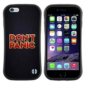 "Pulsar iFace Series Tpu silicona Carcasa Funda Case para Apple iPhone 6 / 6S (4.7 INCH) , Do not Panic frío metal Héroe Colores rojos"""