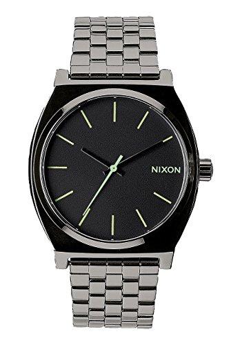 Nixon A045-1885 Mens Time Teller Polished Gunmetal Watch