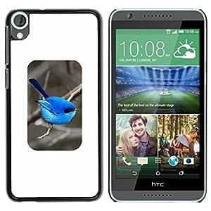 FlareStar Colour Printing Bird Blue Minimalist Songbird Winter cáscara Funda Case Caso de plástico para HTC Desire 820