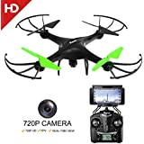 Potensic Drone with HD Camera, U48WH UDIRC RTF Drone Quadcopter UFO with Newest Altitude Hold Fuction&HD WiFi Camera and 3D Flips Function (TF Card & Card Reader Included)