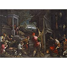 Polyster Canvas ,the Art Decorative Prints On Canvas Of Oil Painting 'Bassano Jacopo Bassano Francesco The Return Of The Prodigal Son Ca. 1570 ', 20 X 28 Inch / 51 X 70 Cm Is Best For Home Theater Gallery Art And Home Decor And Gifts