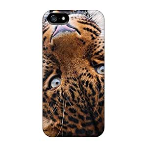 Kingsbeatiful Anti-scratch And Shatterproof Female Leopard Rolling cell phone case cover bIB8GBYLtJG For Iphone 5c/ High Quality Tpu case cover