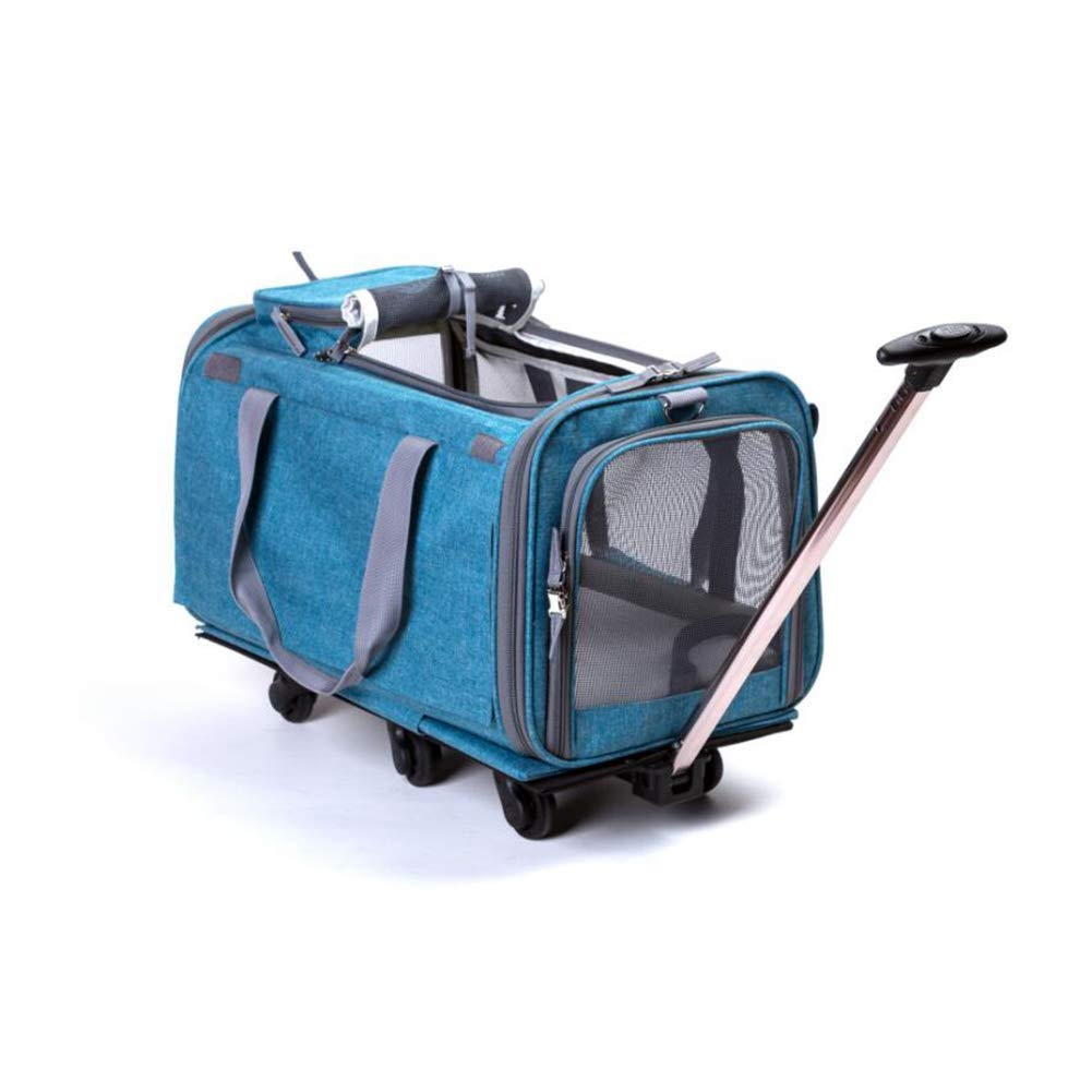 bluee MRXUE Portable Pet Carrier Collapsible Easy To Clean Travel Bag For Dog and Cat