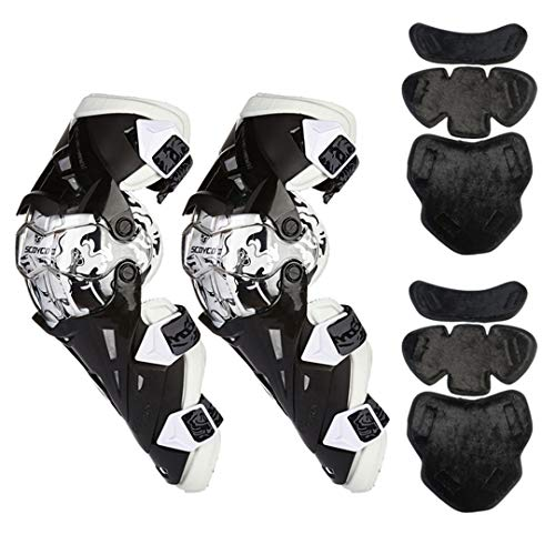 - Motorcycle Knee Protector Motocross Knee Protector Racing Guards Motorcycle Knee Pads Protective Gear K12 White with Warm