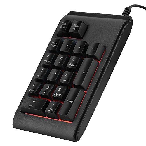 키패드 보드 VBESTLIFE 숫자 키패드 19 키 RGB 호흡 빛 USB 연결 기계 터치 내구성 1000만 클릭 패드 Microsoft Android iMac 시스템 적용 / Ten Keyboard VBESTLIFE Numeric Keypad 19 Key RGB Breathing Light USB Connection Mechanical Touch Hi...