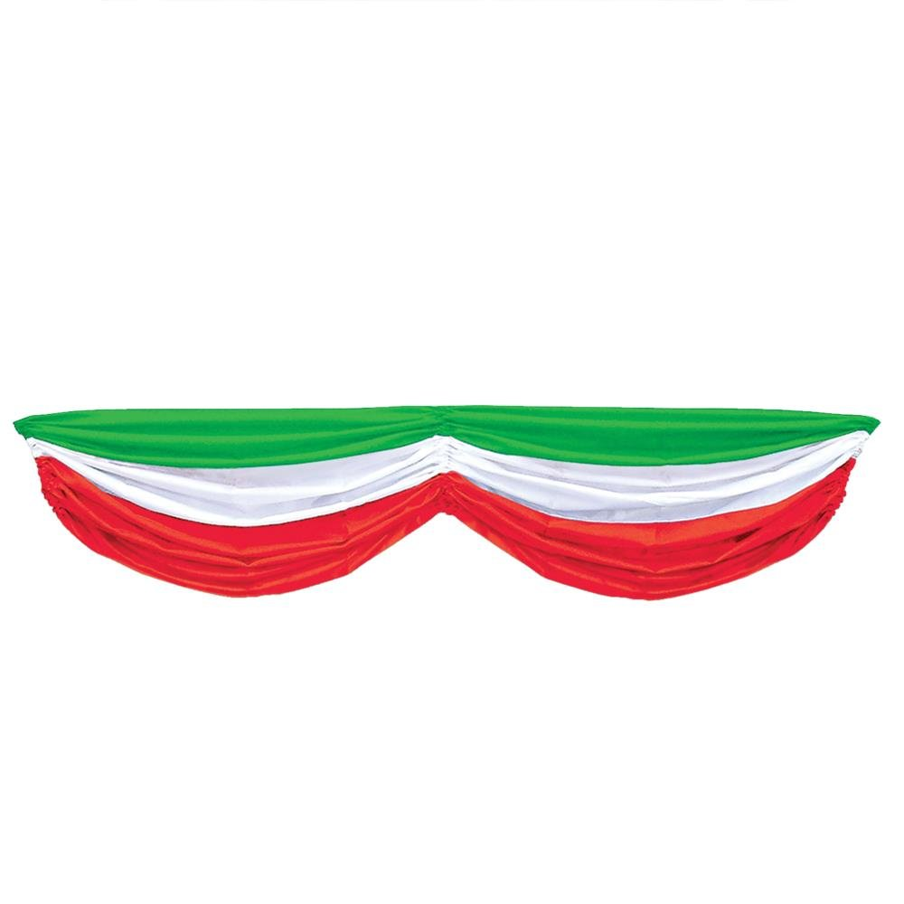 Peeks Italy Flag Italian Republic Day 1.78m Fabric Table Swag Party Decoration