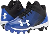 Under Armour Boys' Leadoff Mid Jr. RM Baseball Shoe, Black, 8K