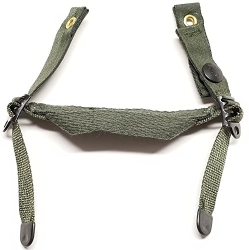 - New genuine Us Army Issue OD Green Chin Strap for Pasgt Kevlar Helmet