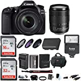Canon EOS 80D Digital Camera: 24 Megapixel 1080p HD Video DSLR Bundle with 18-135mm USM Lens 48GB Flash Filters Travel Charger and More - Professional Vlogging Sports & Action Cameras