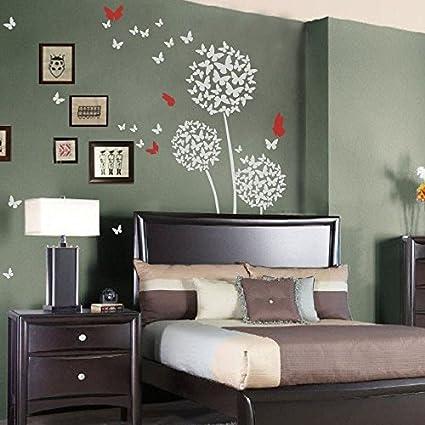 Amazon mairgwall dandelion wall decal flower sticker nursery mairgwall dandelion wall decal flower sticker nursery floral wall mural girl room vinyl large mightylinksfo