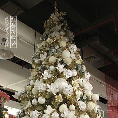 Albero Di Natale Bianco E Oro.Zhudj Addobbi Natale Argento Sfera Bianca Oro Oro Bianco Alberi Di Natale Fiori Amazon It Casa E Cucina