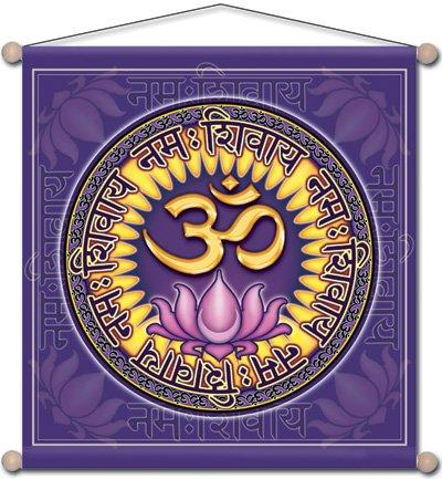 Cheap 30″ x 30″ Mandala Arts Temple Banner Aum Namah Shivaya