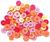 Blumenthal Lansing Favorite Findings Basic Buttons Assorted Sizes, 130/Pkg, Flora